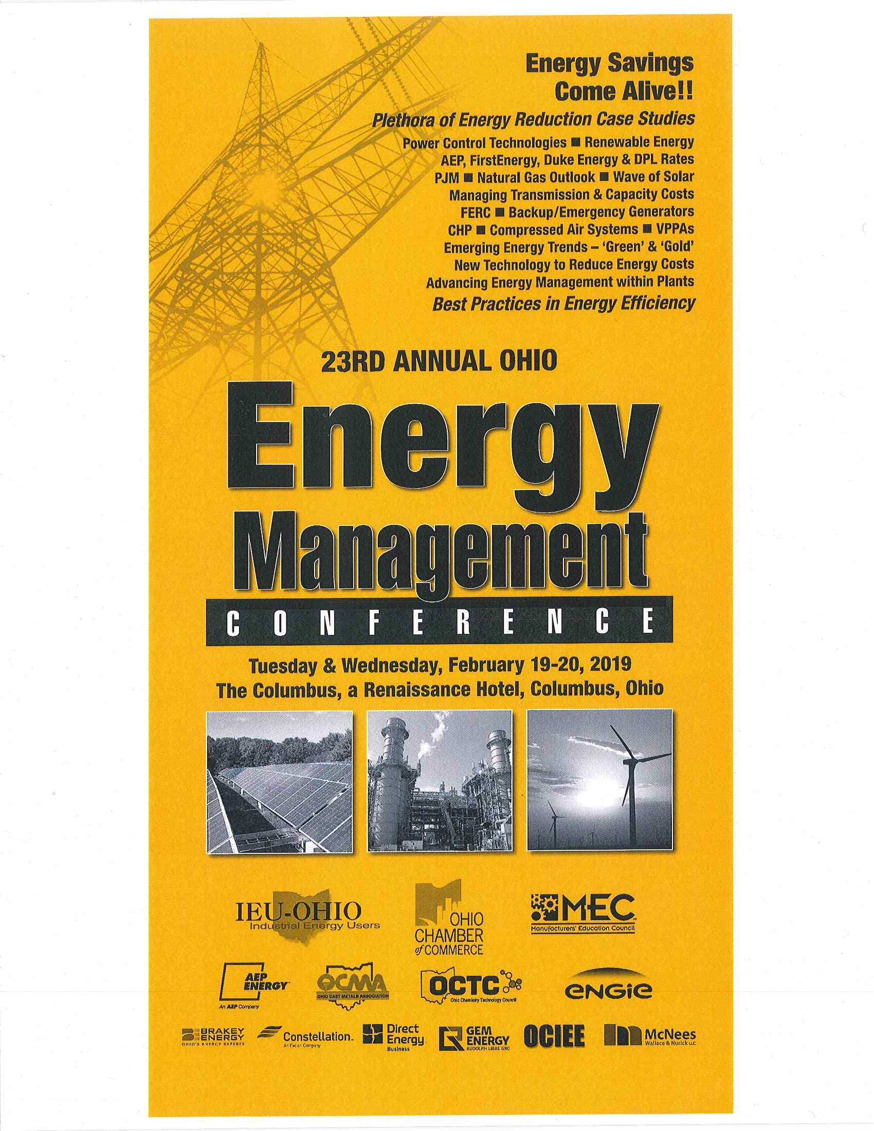 23rd Annual Ohio Energy Management Conference   Energy GRID